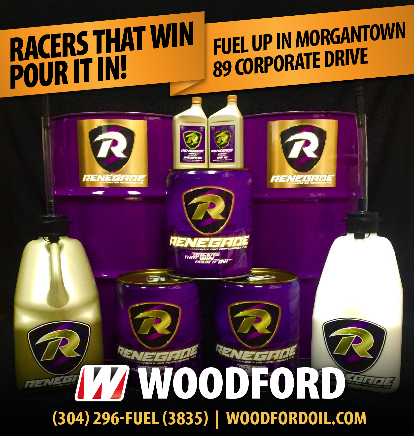Renegade Race Fuel >> Woodford Oil Co Fuel Lubricant Distributor Wv Oh Pa Va Ky Md